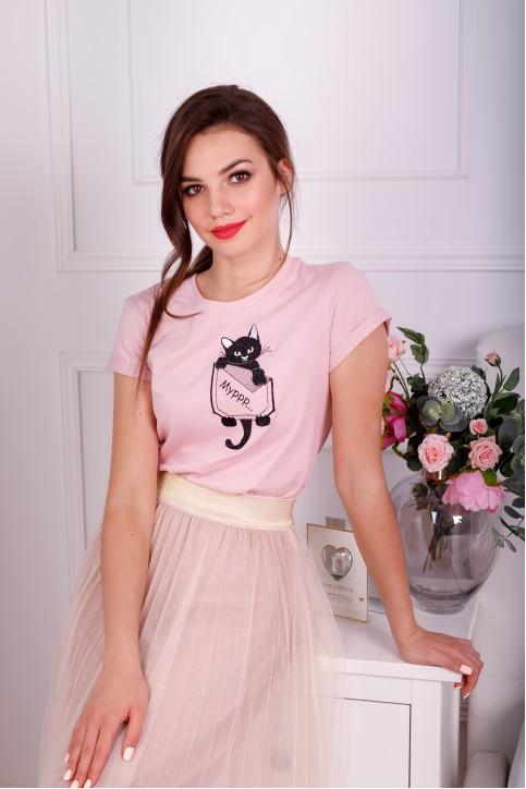 Купити жіночу футболку casual  Мурр (пудра) в Україні від Галичанка фото 1