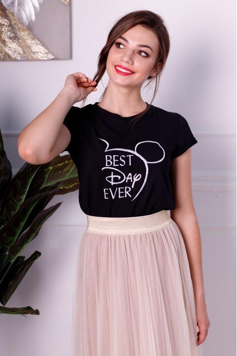 Купити жіночу футболку casual  Ever Day (чорна) в Україні від Галичанка фото 1