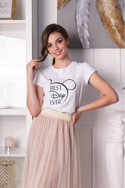 Купити жіночу футболку casual Ever Day (біла) в Україні від Галичанка фото 1