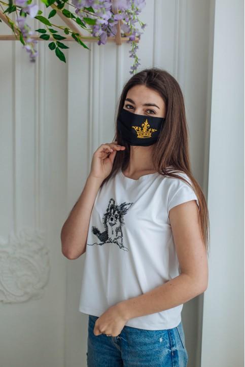 Купити захисну маску Корона (чорна) в Україні від виробника Галичанка фото 1