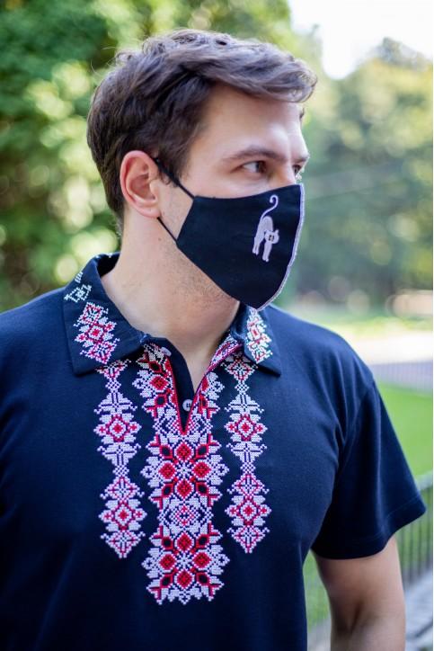 Купити захисну маску Кіт ( чорна) в Україні від виробника Галичанка фото 1