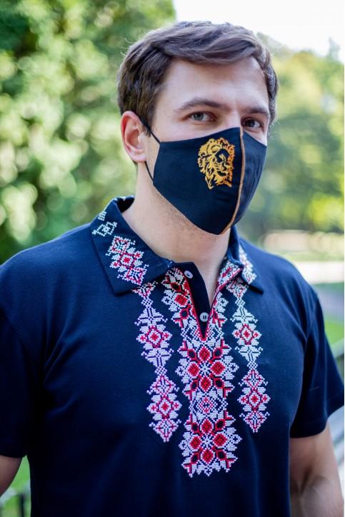 Купити захисну маску Лев ( чорна) в Україні від виробника Галичанка фото 1