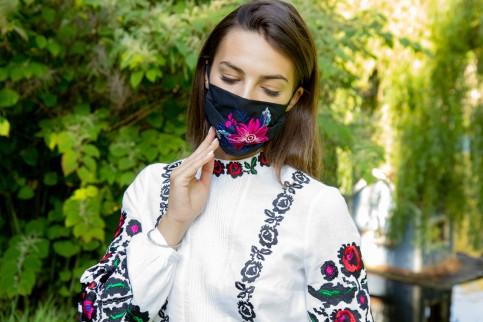 Купити захисну маску  Розпис ( чорна) в Україні від виробника Галичанка фото 1