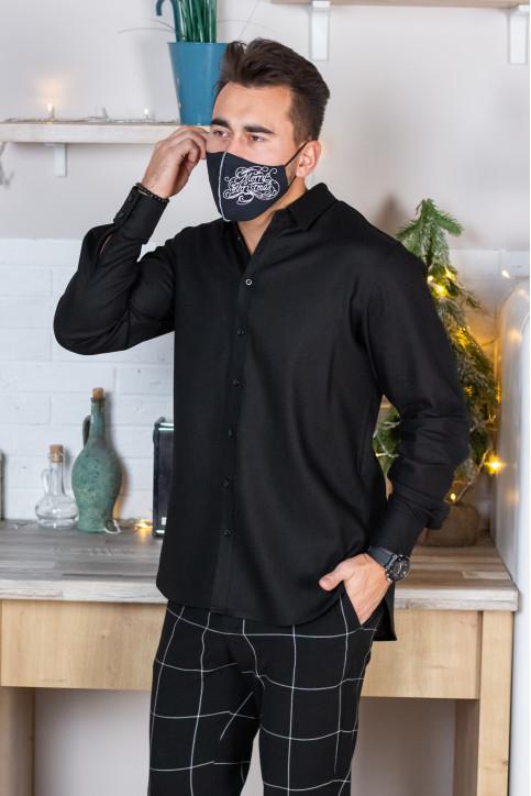 Купити захисну маску Meryy Christmas (чорна) в Україні від виробника Галичанка фото 1