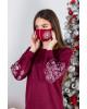 Купити захисну маску Сніжинка (вишнева) в Україні від виробника Галичанка фото 1