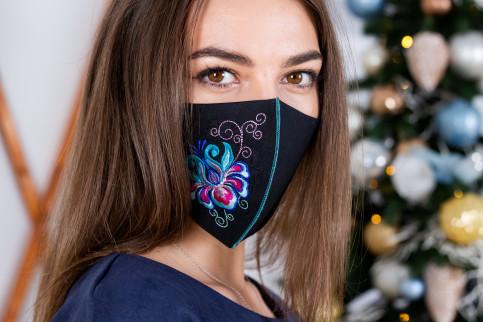 Купити захисну маску Ірен (чорна) в Україні від виробника Галичанка фото 1