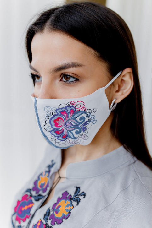 Купити захисну маску  Ірена (біла) в Україні від виробника Галичанка фото 1