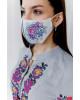 Купити захисну маску  Ірена (біла) в Україні від виробника Галичанка фото 2