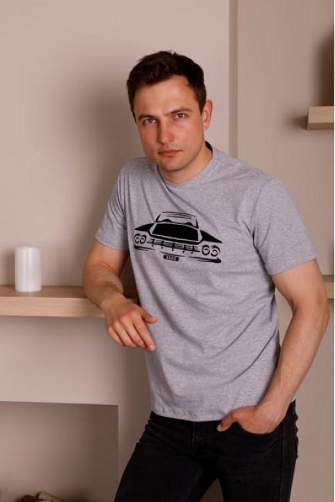 Купити чоловічу футболку Casual Шелбі (сіра)  в Україні від Галичанка фото 1