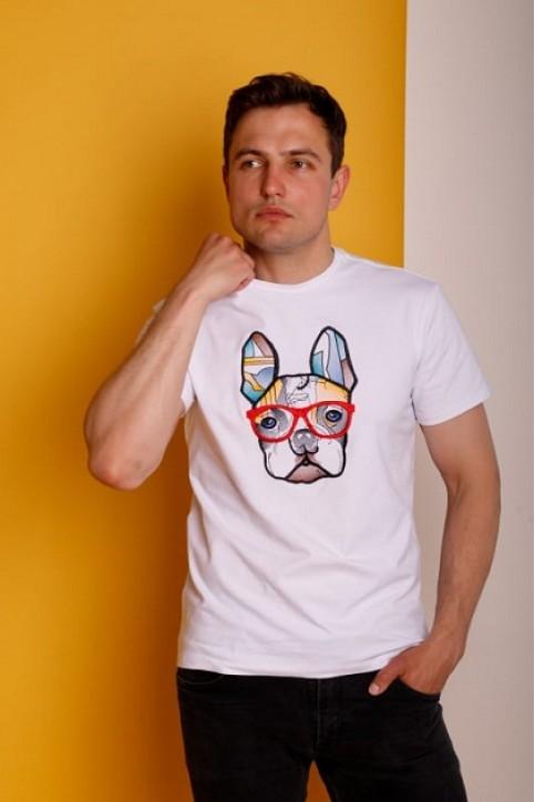 Купити чоловічу футболку Casual Стиляга (біла)  в Україні від Галичанка фото 1