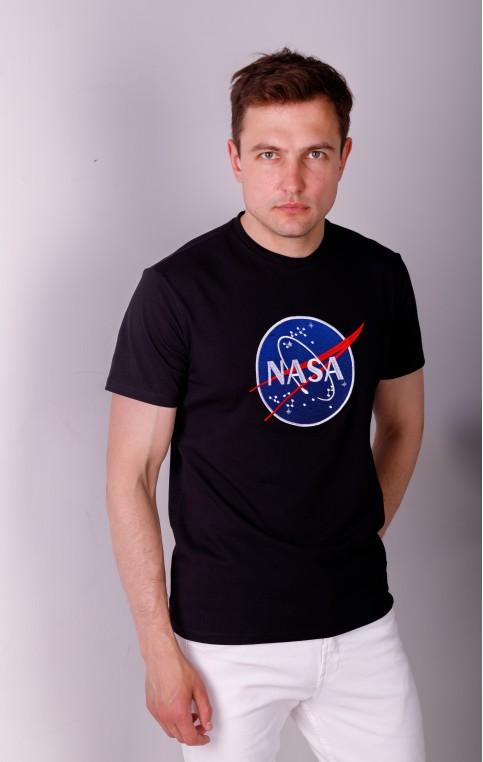 Купити чоловічу футболку Casual NASA (чорна)  в Україні від Галичанка фото 1