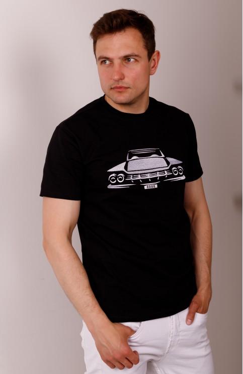 Купити чоловічу футболку Casual Шелбі (чорна)  в Україні від Галичанка фото 1