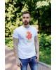 Купити чоловічу футболку Casual Місто Лева (біла)  в Україні від Галичанка фото 1