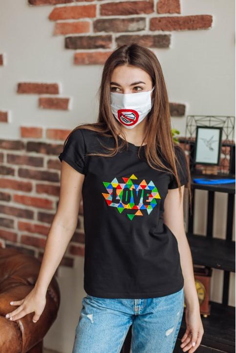 Купити захисну маску Рукостискання (біла) в Україні від виробника Галичанка фото 1