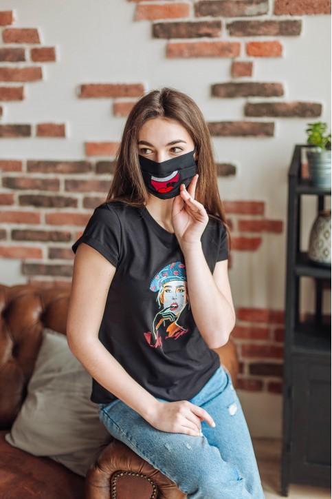 Купити захисну маску  Посмішка (чорна) в Україні від виробника Галичанка фото 1