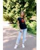 Купити жіночу футболку casual Місто Лева (чорна) в Україні від Галичанка фото 1