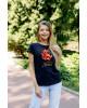 Купити жіночу футболку casual Місто Лева (чорна) в Україні від Галичанка фото 2