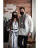 Купити парні вишиванки Всеволод і Неповторність (біла з чорним) в Україні від Галичанка фото 2