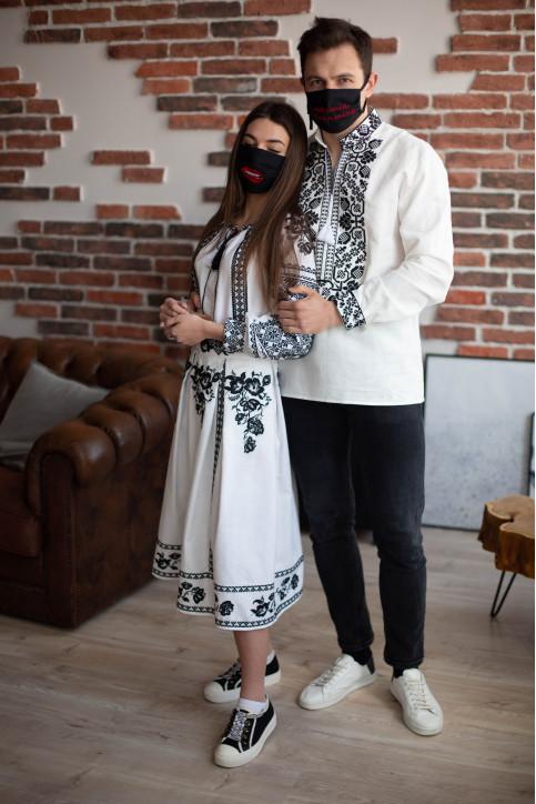 Купити парні вишиванки Всеволод і Неповторність (біла з чорним) в Україні від Галичанка фото 1
