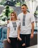 Купити парні вишиванки Фаворит і фортуна (біла з сірим) в Україні від Галичанка фото 2