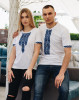 Купити парні вишиванки Фаворит і фортуна (біла з синім) в Україні від Галичанка фото 2