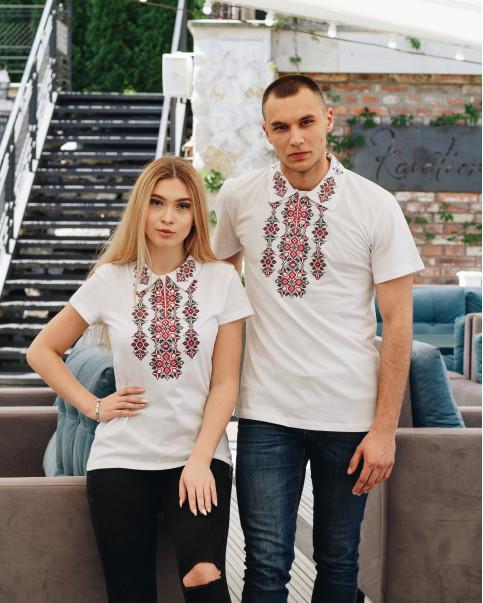 Купити парні вишиванки Руслан і Людмила (біла з червоним) в Україні від Галичанка фото 1