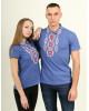 Купити парні вишиванки Руслан і  Людмила (синій з червоним) в Україні від Галичанка фото 1