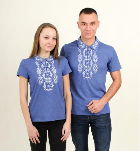 Купити парні вишиванки Руслан і  Людмила (синій з синім)) в Україні від Галичанка фото 1