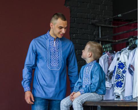 Купити парні вишиванки Капрал і молодший капрал (джинс з синім) в Україні від Галичанка фото 1