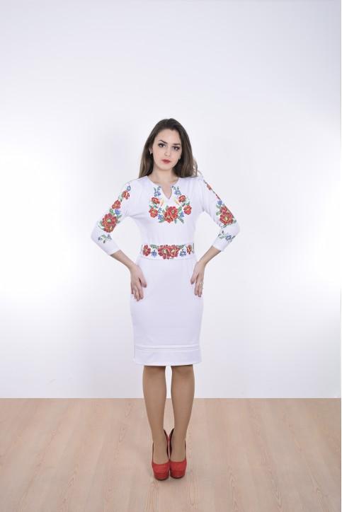 Купити вишиту сукню Романс (біле) в Україні від виробника Галичанка фото 1