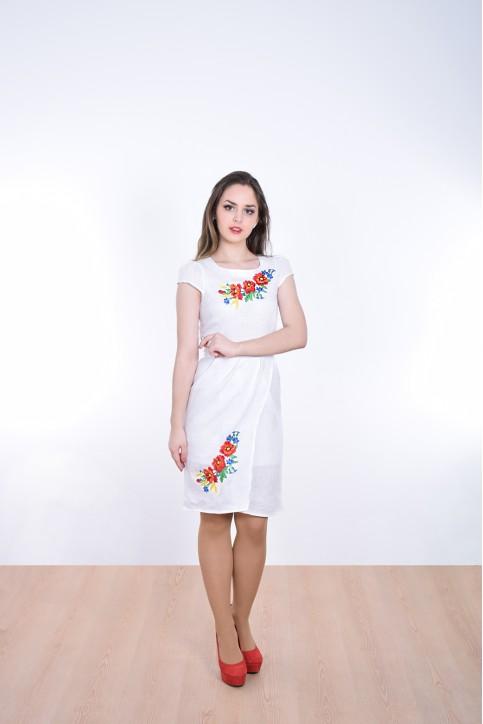 Купити вишиту сукню Полісся (біле) в Україні від виробника Галичанка фото 1