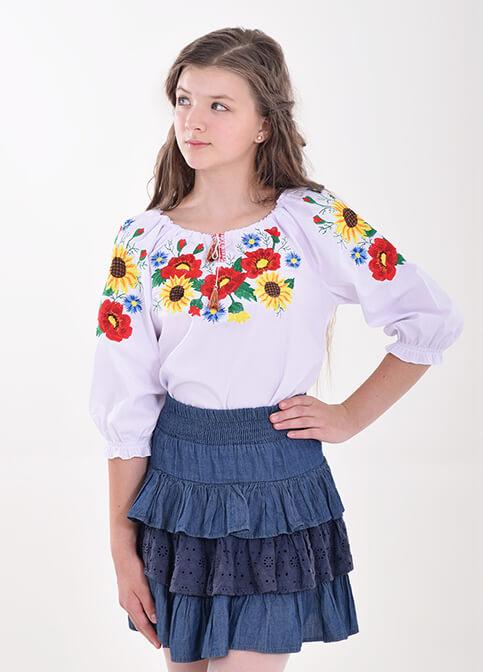 Вишиванка для дівчинки Золотко – купити в Україні від Галичанка фото 1