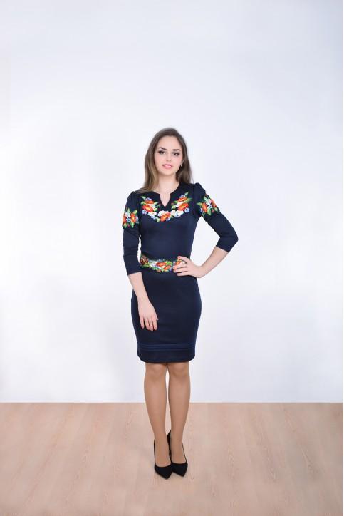 Купити вишиту сукню Подолянка  (синя) в Україні від виробника Галичанка фото 1