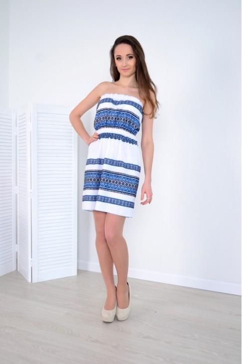 Купити вишиту сукню Росинка (синя) в Україні від виробника Галичанка фото 1