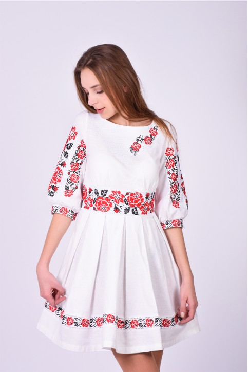 Купити вишиту сукню Пасія (домотканне) в Україні від виробника Галичанка фото 1