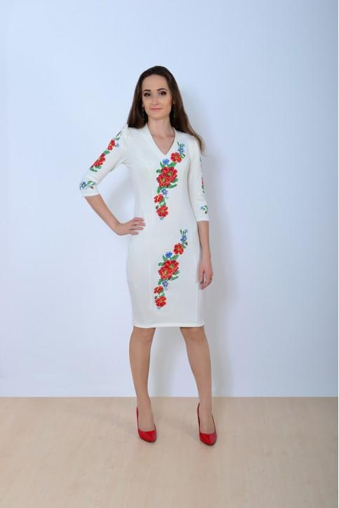 Купити вишиту сукню Романс сучасний (бежеве) в Україні від виробника Галичанка фото 1