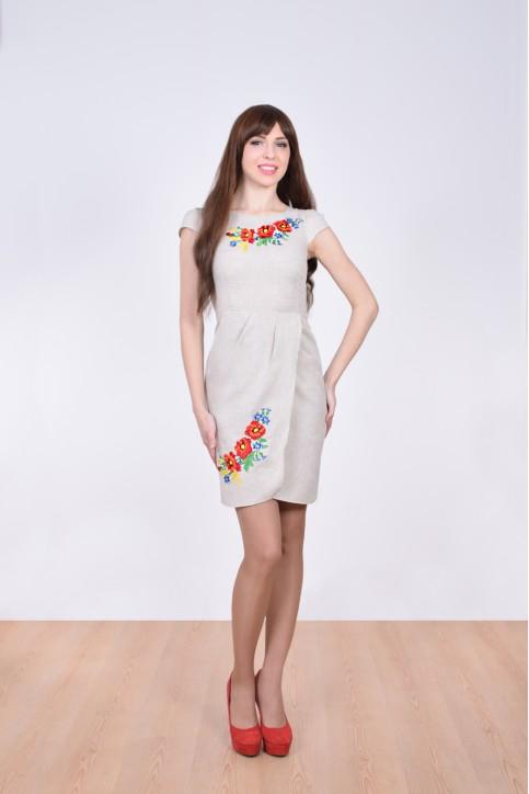 Купити вишиту сукню Полісся (сіре) в Україні від виробника Галичанка фото 1