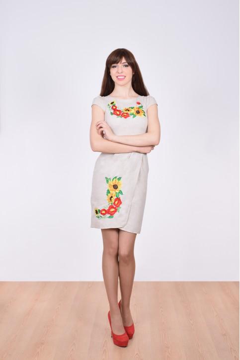 Купити вишиту сукню Вранішня роса (сіре) в Україні від виробника Галичанка фото 1