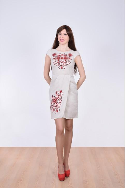 Купити вишиту сукню Роксолана (сіре) в Україні від виробника Галичанка фото 1