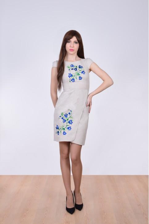 Купити вишиту сукню Дзвінка (сіре) в Україні від виробника Галичанка фото 1