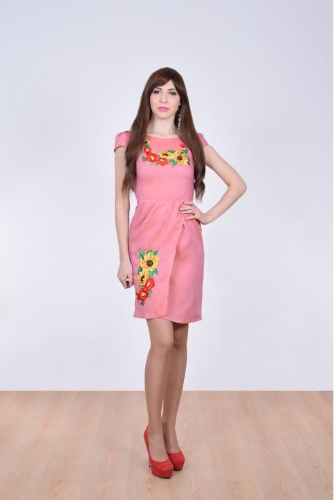 Купити вишиту сукню Вранішня роса (рожеве) в Україні від виробника Галичанка фото 1