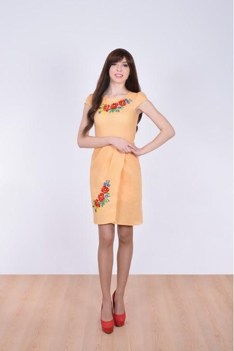 Купити вишиту сукню Полісся (жовте) в Україні від виробника Галичанка фото 1