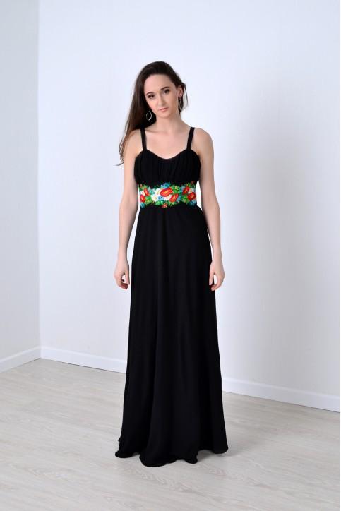 Купити вишиту сукню Лебідка (чорна) в Україні від виробника Галичанка фото 1