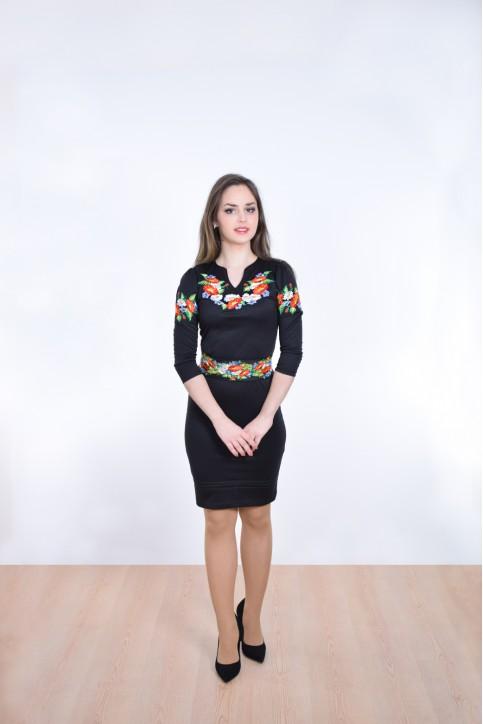 Купити вишиту сукню Подолянка (чорне) в Україні від виробника Галичанка фото 1