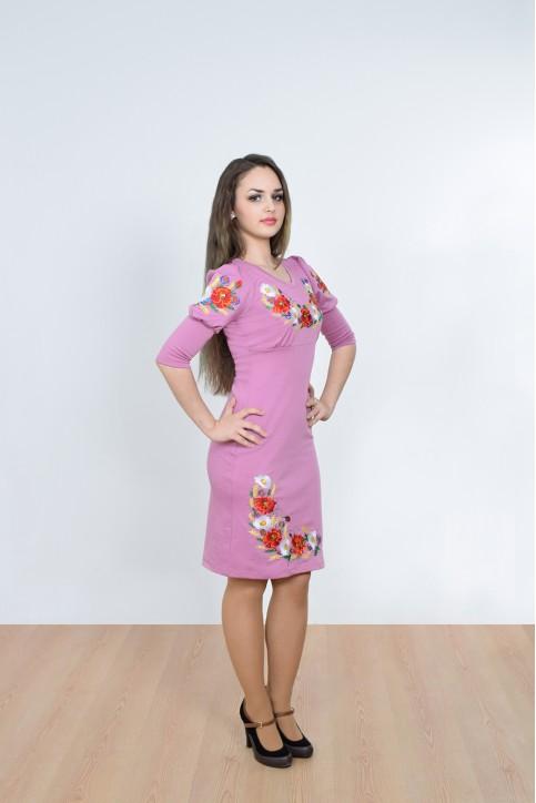 Купити вишиту сукню Краля (фіолетова) в Україні від виробника Галичанка фото 1