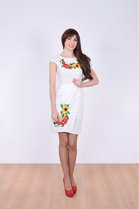 Купити вишиту сукню Вранішня роса (біла) в Україні від виробника Галичанка фото 1