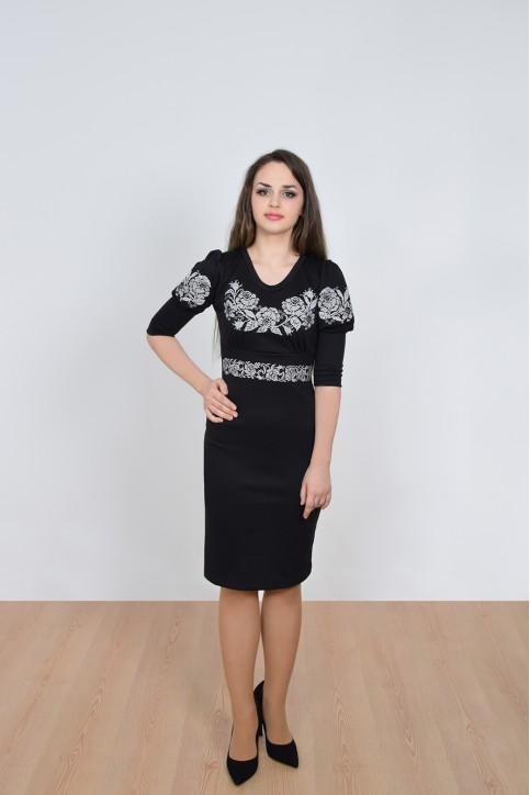 Купити вишиту сукню Панські троянди (чорне) в Україні від виробника Галичанка фото 1
