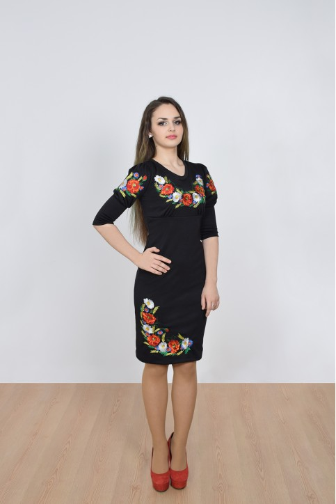 Купити вишиту сукню Краля (чорне) в Україні від виробника Галичанка фото 1