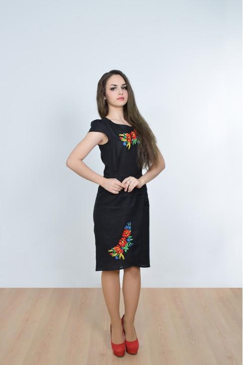 Купити вишиту сукню Полісся (чорне) в Україні від виробника Галичанка фото 1