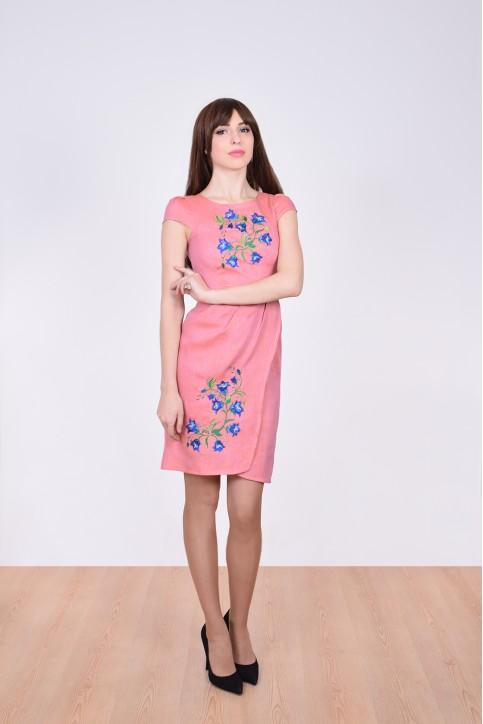 Купити вишиту сукню Дзвінка (рожева) в Україні від виробника Галичанка фото 1